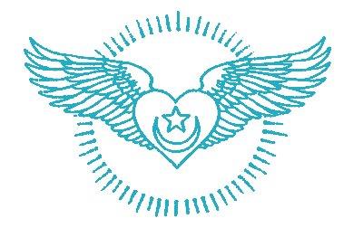 Sufi Herz mit Flügeln